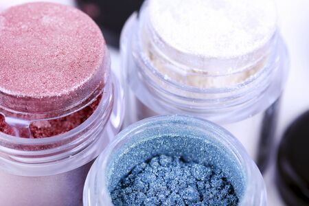 Cosmetic eyeshadows pigments, macro Stock Photo - 10452475