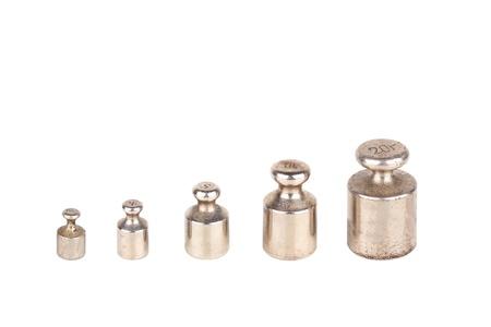 Iron weight isolated on white background Stock Photo - 11311741