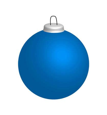 christmasball: Blue christmas ball, illustration