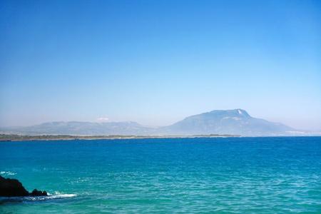 Mountains on island in Atlantic ocean, Dominican Republic photo
