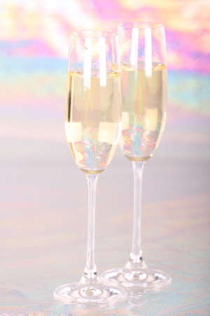 Pair glasses of champagne  photo