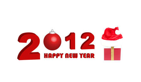 christmasball: Happy new year 2012, illustration