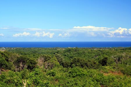 Atlantic ocean from mountains view, Dominican Republic photo