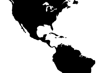 Caribbean central america map, illustration illustration