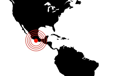 Earthquake in Mexico, illustration illustration