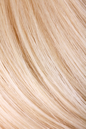 Extension de cheveux blonds, macro photo