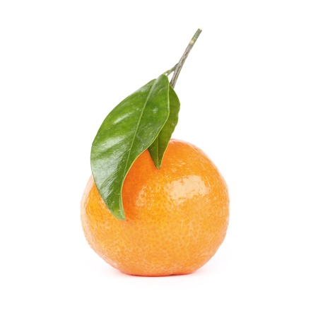 Tangerine, closeup on white background Stock Photo - 12175671