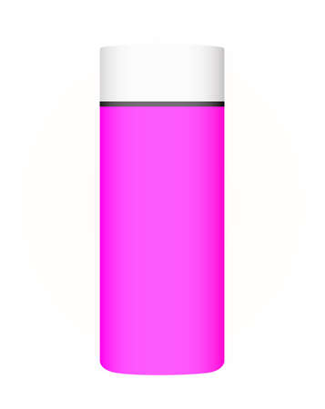 Pink tube with cream, isolated on white Stock Photo - 12766920