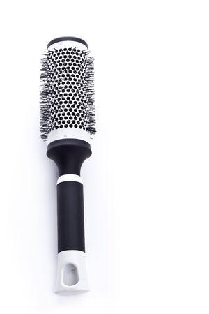 styler: Round hair styler closeup on white background