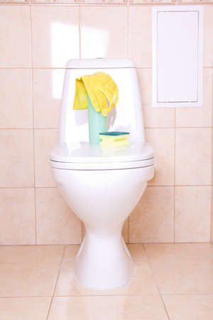 Sanitary tools for clean toilet Stock Photo - 12948604