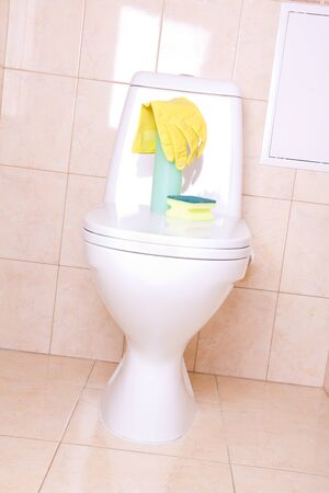 Sanitary tools for clean toilet Stock Photo - 13175600