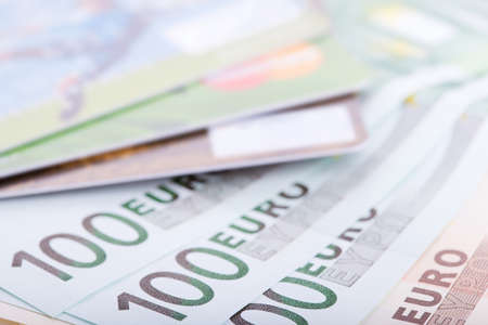 Euro banknotes and credit cards, сloseup Stock Photo - 13175549