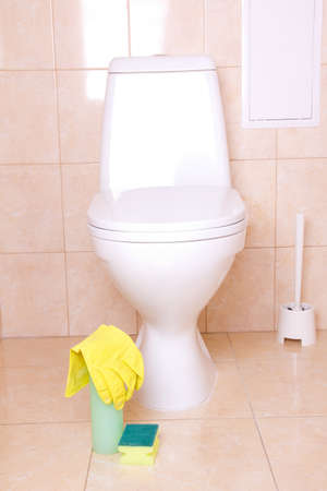 Sanitary tools for clean toilet Stock Photo - 13175559