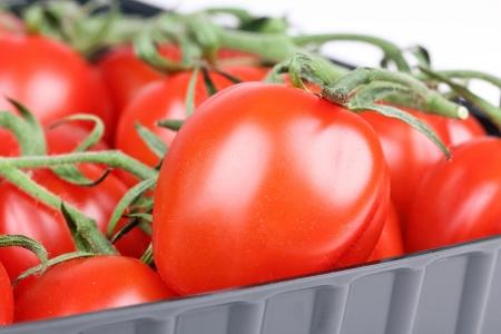 tomato cherry: Tomato cherry in packing, closeup Stock Photo