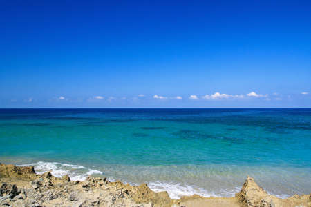 Caribbean sea beach, tropical coastline photo