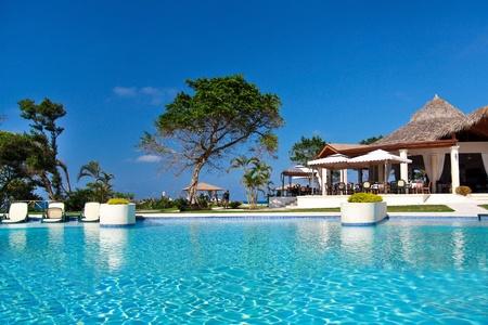 Swimming pool in caribbean resort