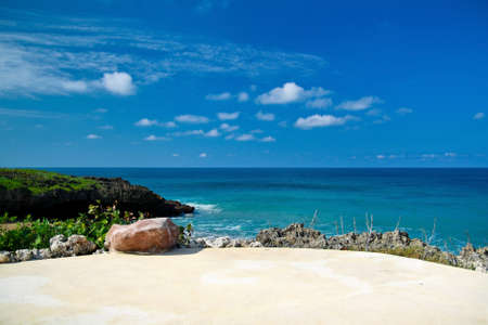 Caribbean sea beach, tropical coastline photo