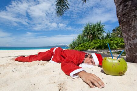 Santa Claus in tropic paradise photo