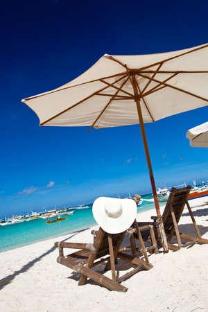 longue: Tropical vacation Stock Photo
