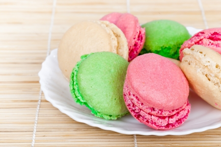 colorful french macaroones  photo