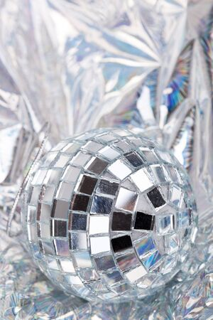 Shiny Mirrored disco ball photo