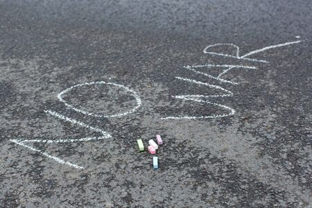 No war words chalk drawing on asphalt Stock Photo - 16920969