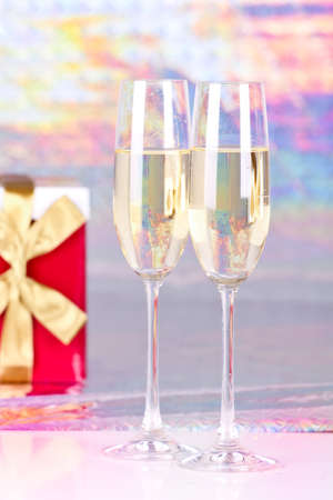 Two glasses with champagne Stock Photo - 16920500