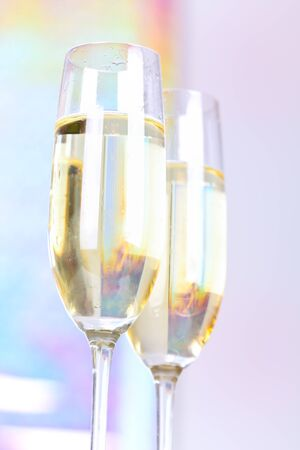 Two glasses with champagne photo