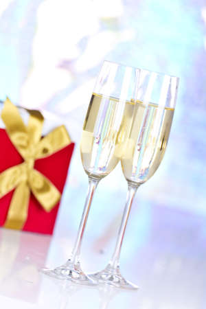 Two glasses with champagne Stock Photo - 17234286