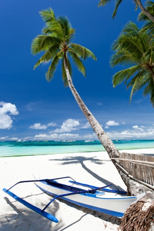 Tropical beach view, Philippines, Boracay