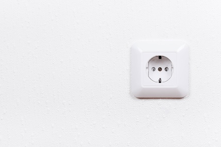 receptacle: Electrical outlet on wall, interior