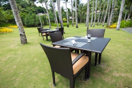 Resort restaurant on beach, Boracay, Philippines photo