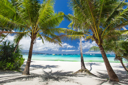 Tropical beach, Philippines, Boracay Island photo