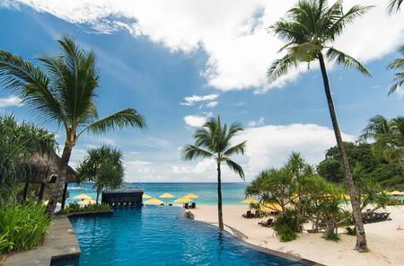 boracay: Swimming pool in luxury resort, Boracay, Philippines