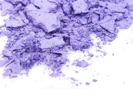 powder blue: Crushed eyeshadows on white. Beauty concept