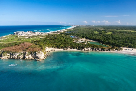 Aerial view of Macao beach, Bavaro , Dominican Republic