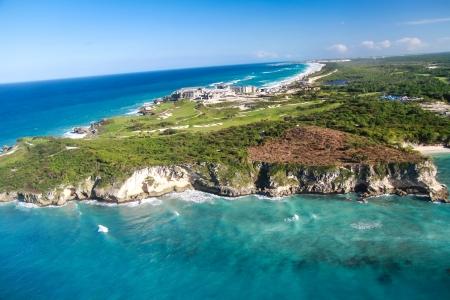 Aerial view of Macao beach, Bavaro , Dominican Republic Imagens