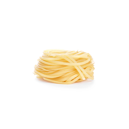 Tagliatelle isolated on white background photo