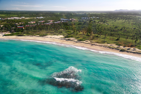 Aerial view of caribbean coastline, Dominican Republic   photo