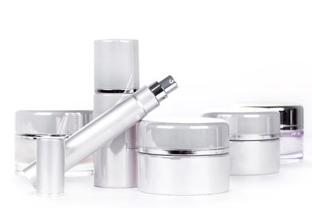 Verzameling van skincare spa producten. Concept van de schoonheid Stockfoto