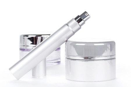Collection of skincare spa products. Beauty concept