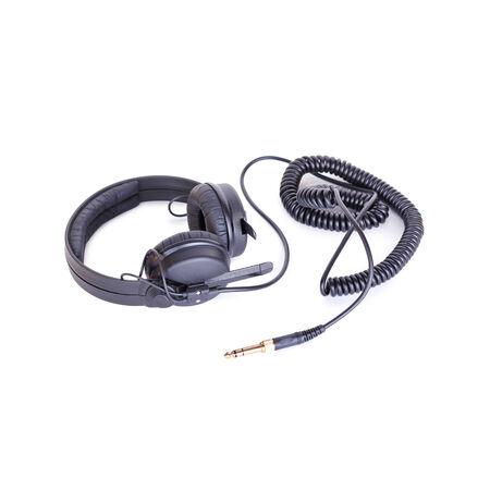audifonos dj: Dj auriculares, aislados en blanco