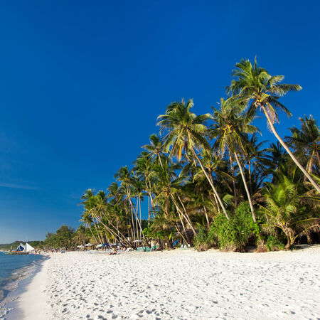 White sand beach on Boracay island, Philippines  photo