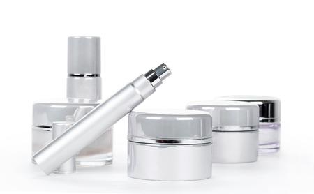 productos de belleza: Colección de productos de spa de cuidado de la piel. Concepto de la belleza