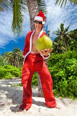 Santa Claus in tropic paradise photo