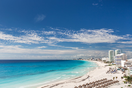 Cancun beach panorama view, Mexico
