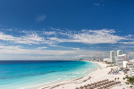 Cancun beach panorama view, Mexico photo