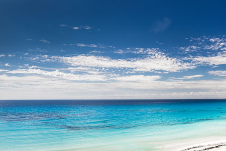 Caribbean beach with white sand and turquoise water, Cancun photo