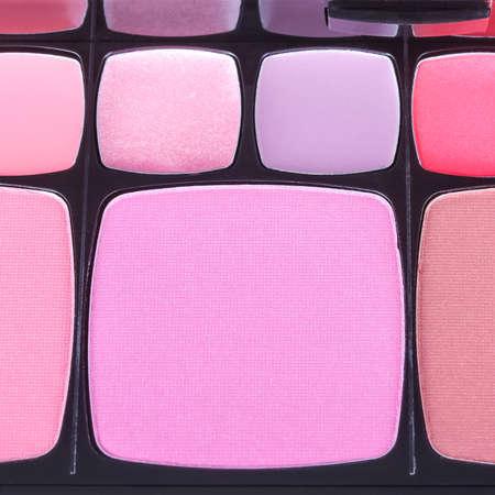 eyemakeup: Make-up blush palette, closeup Stock Photo