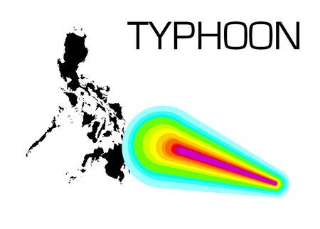Strong typhoon on Philippines, Illustration illustration